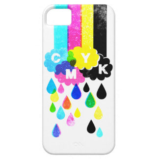 CMYK - Rainbows and Raindrops Case For The iPhone 5