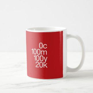 CMYK Red Classic White Coffee Mug