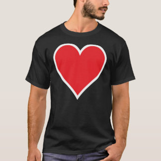 CMYK Red Heart with White Border Tee Shirt