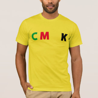 CMYK Shirt - Funny Yellow text