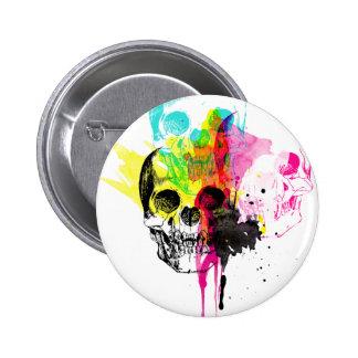 CMYK Skull Button