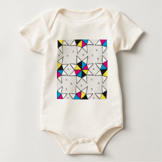 CMYK Star Wheel Baby Bodysuit