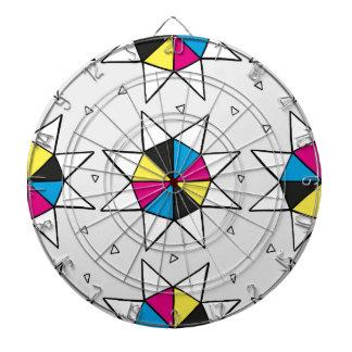CMYK Star Wheel Dartboard