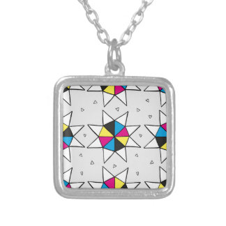 CMYK Star Wheel Silver Plated Necklace