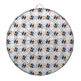 CMYK Star Wheels Dartboard