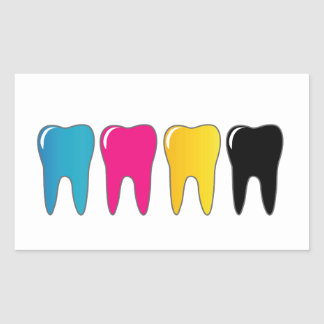 CMYK tooth Sticker