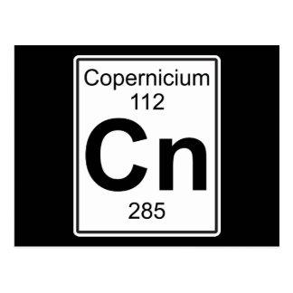 Cn - Copernicium Postcard