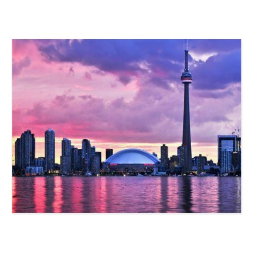 CN Tower : View from Center Island Toronto Postcards