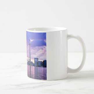 CN Tower : View from Centre Island Toronto Basic White Mug