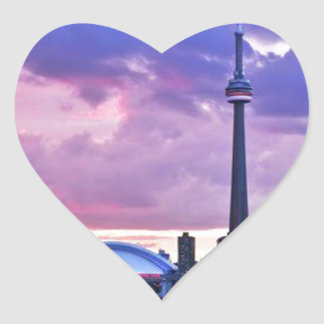 CN Tower : View from Centre Island Toronto Heart Sticker