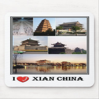 CN Xian China - I Love Mosaic - Mouse Pad