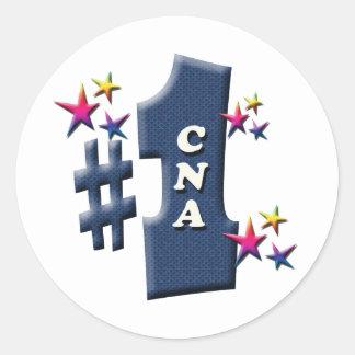 CNA Award Round Sticker