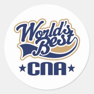 CNA Certified Nursing Assistant Gift Round Sticker