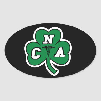 CNA NURSE  STPATRICKS DAY OVAL STICKER