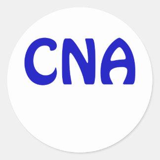 CNA ROUND STICKER
