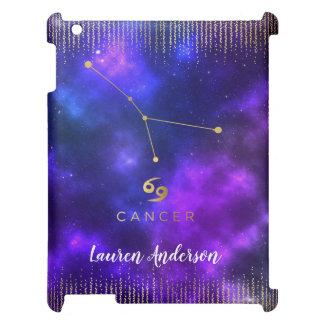 Cnacer Zodiac Custom Name iPad Case