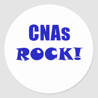 CNAs Rock Round Sticker