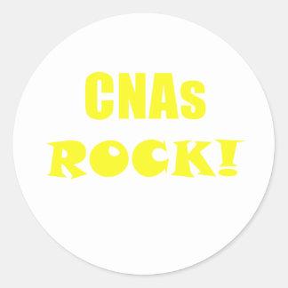 CNAs Rock Round Sticker