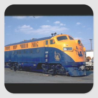 CNJ EMD F-3A #56. (train;sky_Trains Square Sticker