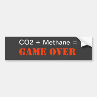 CO2 + Methane = Game Over Bumper Sticker