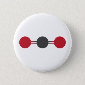 CO2 Molecular Structure 2 Inch Round Button