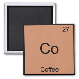 Co - Coffee Chemistry Element Symbol Funny Magnet