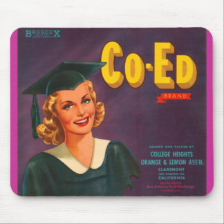 Co Ed Brand Oranges Vintage Advertisement Mouse Pad