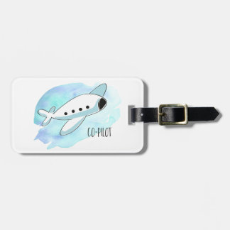 Co-Pilot with Plane Luggage Tag