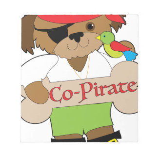 Co-Pirate Dog Notepad