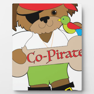 Co-Pirate Dog Plaque