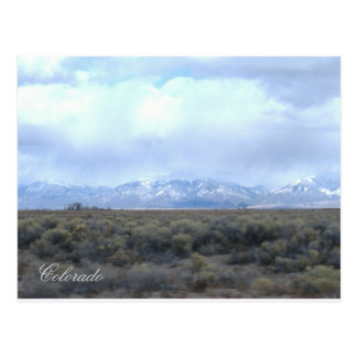 CO Snowy Mountains and Valley Postcard