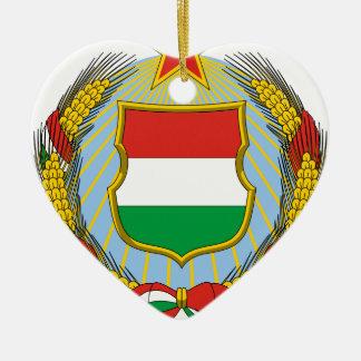 Coa_Hungary_Country_History_(1957-1990) Ceramic Ornament