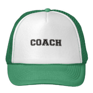 Coach Black Font Trucker Hat