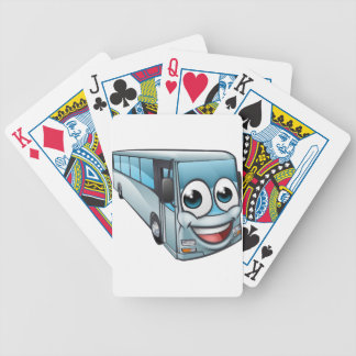 Coach Bus Cartoon Character Mascot Bicycle Playing Cards
