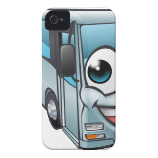 Coach Bus Cartoon Character Mascot iPhone 4 Case-Mate Cases