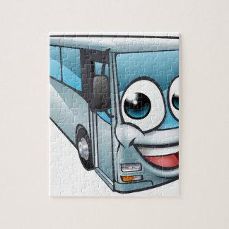 Coach Bus Cartoon Character Mascot Jigsaw Puzzle