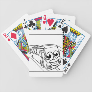 Coach Bus Cartoon Character Mascot Scene Bicycle Playing Cards
