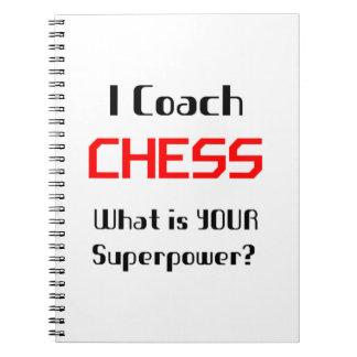 Coach chess note book