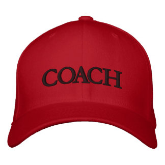 COACH EMBROIDERED HAT