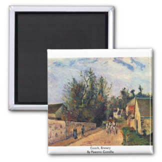 Coach, Ennery By Pissarro Camille Square Magnet