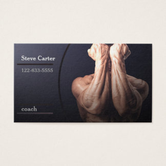Coach, Fitness Trainer, Sport Leader Club Muscle Business Card