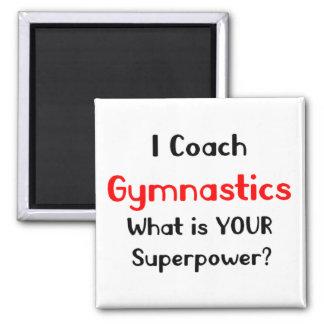 Coach gymnastics square magnet