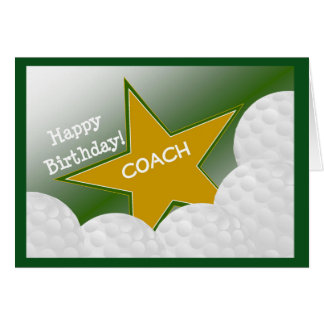 Coach - Happy Birthday Golf Coach Card