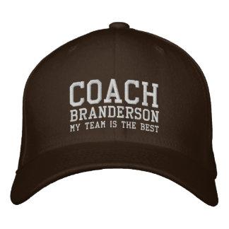 Coach Hat Custom Name V02 Embroidered Baseball Cap
