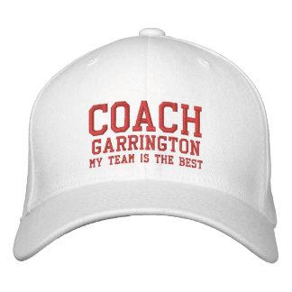 Coach Hat Custom Name V08 Embroidered Hat