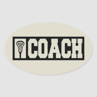 Coach - Lacrosse Coach Oval Sticker