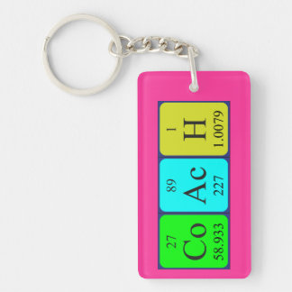 Coach periodic table name keyring