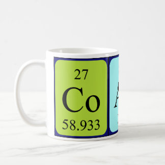 Coach periodic table name mug