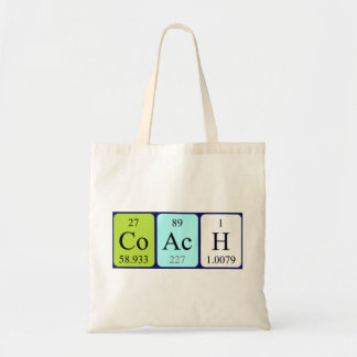 Coach periodic table name tote bag