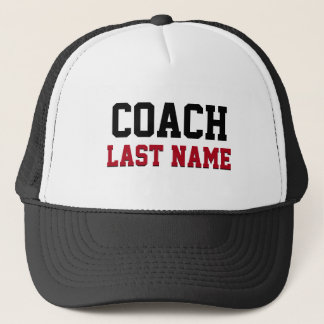 Coach Personalized Last Name Trucker Hat